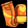 Denim orange icon