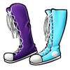 Missmatched shoes blueberry icon