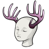 Whitetailantlers heather mannequin