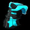 Sleevelessstar blackcyan icon