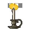 Candle bronze thumb