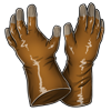 Thumb gloves brown
