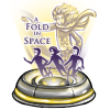 A fold in space