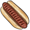 Thumbnail popup plain hot dog