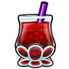 Thumbnail popup bubbletea red