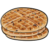 Thumbnail popup chocolate chip waffles