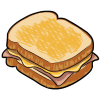 Thumbnail popup ham and cheese sandwich
