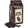 Thumbnail popup dark roast coffee beans