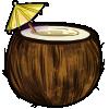Thumbnail popup coconut umbrella drink