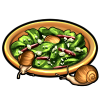 Snips and snails salad