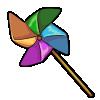 Thumbnail popup pinwheel
