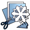 Thumbnail popup paper snowflake kit