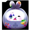 Thumbnail popup purple bunny daruma doll