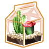 Thumbnail popup recycled terrarium cactus