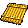 Golden panpipes