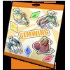 Thumbnail popup stickersheet