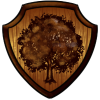 Oakelven shield crest