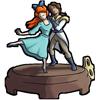 Thumbnail popup dancing statuette