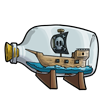 Thumbnail popup pirateship in a bottle