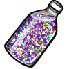 Thumbnail popup glitter bottle
