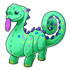 Thumbnail popup dinosaur plush