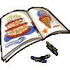 Thumbnail popup coloring book